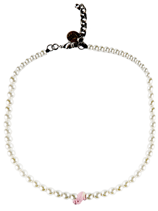 flamingo pearl necklace