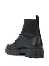 Stretch Leather Combat Boot