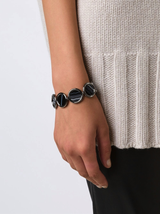 Voyager Black Lace Agate Toggle Bracelet