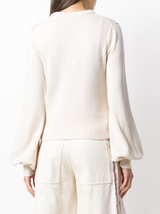 Bell Sleeve Cashmere Sweater