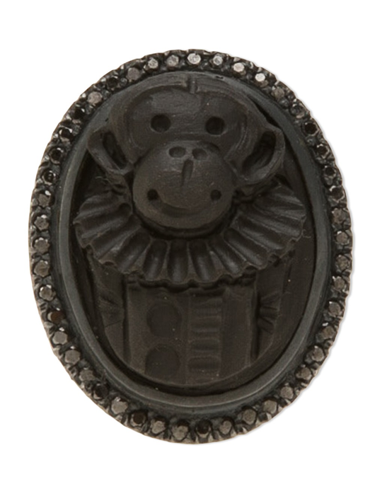 blk lava monkey ring