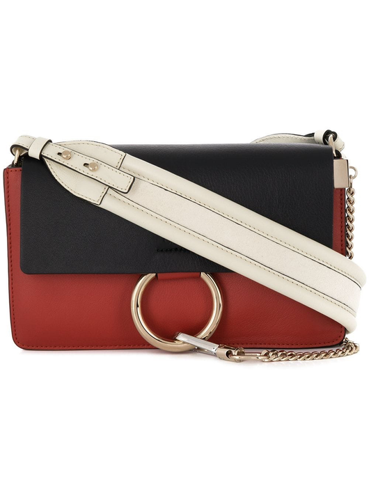 Faye small shoulder bag w/large strap