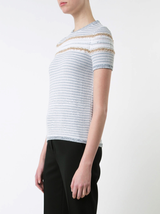 Stripe Knit s/s Sweater