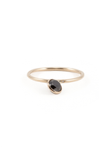 angled solitaire 5mm black diamond ring