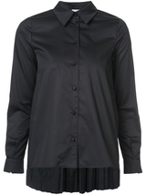 Pleat back button down