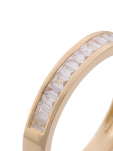 14k Diamond Baguette Band