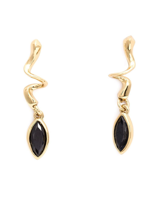 navette drop earring