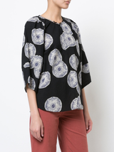 Nova Balloon Sleeve Print Top