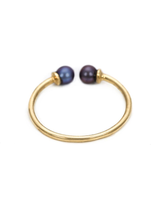 double black pearl 14k ring