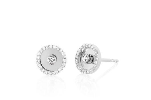 14k bullsye stud earrings