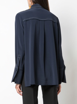 Stretch crepe blouse