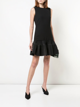 Pleat hem shift dress