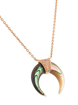 Mini Abalone Double Horn Necklace