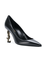 Black YSL logo pump