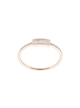 14k Diamond Baguette Stack Ring