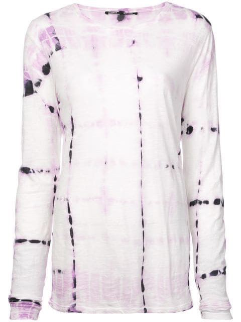 L/s tissue jersey tie dye dress