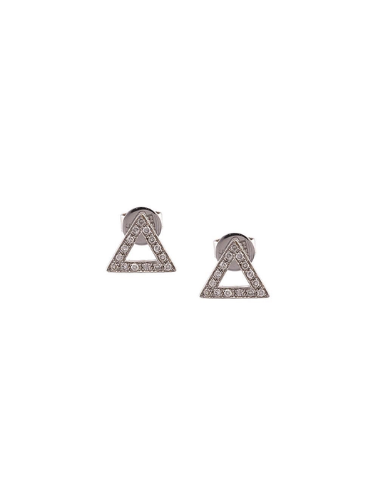 Diamond Open Triangle Stud Earrings