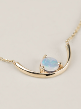 opal arc necklace