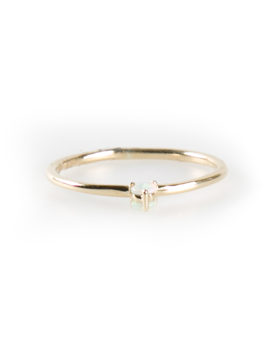 double-sided solitaire opal ring