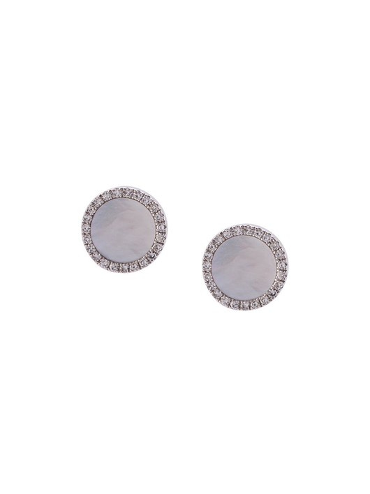 Mother of Pearl Disc Studs