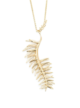 pave frond pendant
