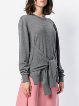 L/S Tie Front Sweater
