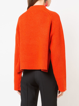 Crewneck side slits sweater