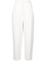 Cropped High Rise Trouser