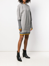 V-back sweatshirt dress