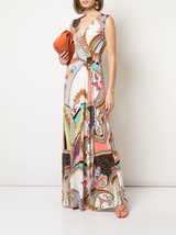 n/s v-neck long dress