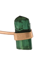 Small Green Tourmaline Crystal Stud