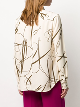 Fitted Print Blouse