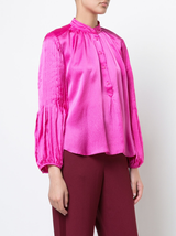 Bravo hammered silk top