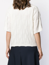 Cable knit s/s sweater
