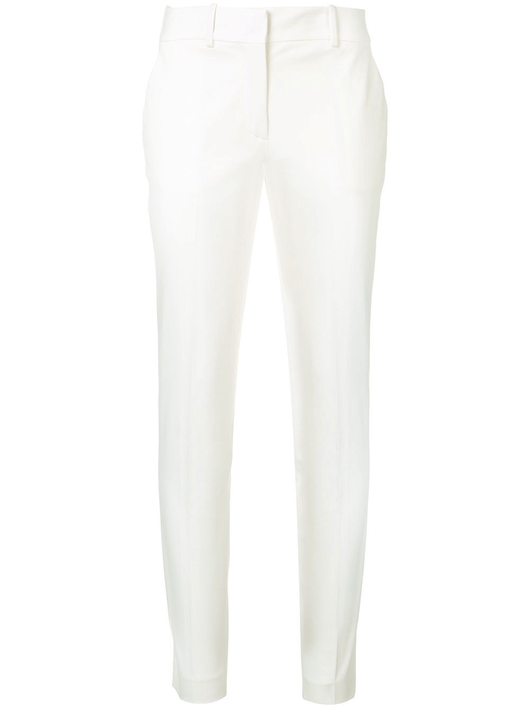 Cotton Stretch Straight Leg Pants