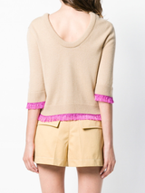 Cashmere Sweater w/fringe Detail