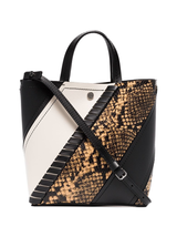 Small hex python embossed tote