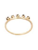 5 prong black diamond 14k ring