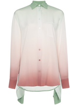 Nellie Printed Silk Double Shirt