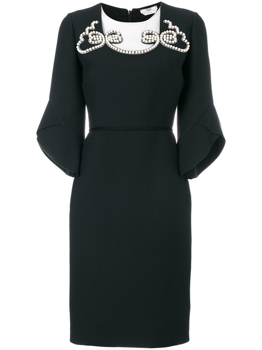 Pearl Neckline Dress