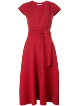 Cap sleeve v-neck a-line dress