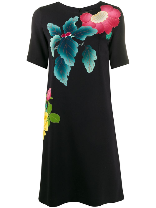 S/S Japanese Floral Print Dress