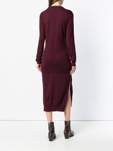 L/S Tie Front Knit Dress