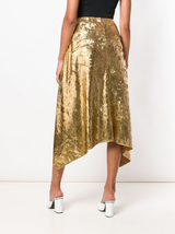 Darby laminated pleated skirt