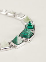 graduated gemstone  pyramid bracelet