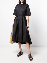 S/S Belted Sateen Dress