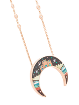 Galaxy double horn necklace