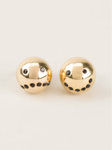 drama emoticon 14k gold earrings