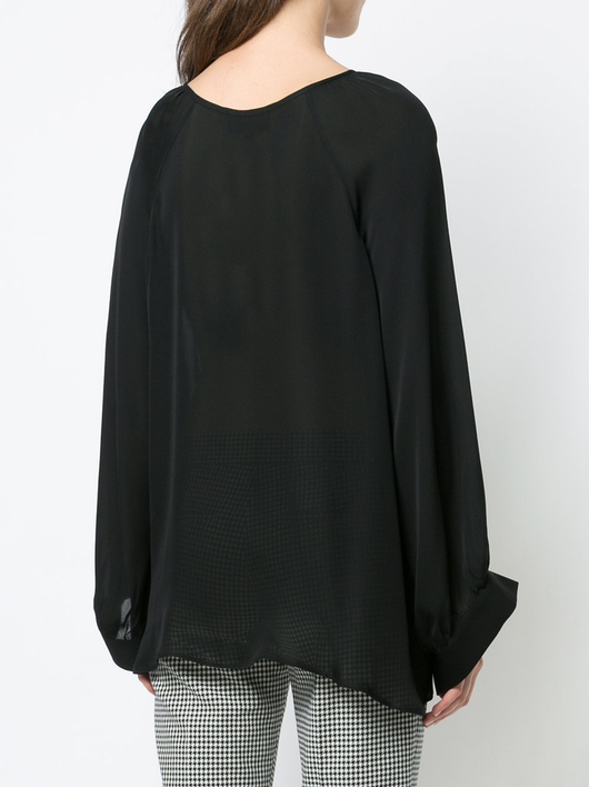 New Style Acadia peasant top - Black Nili Lotan New Lower Prices sdEuv
