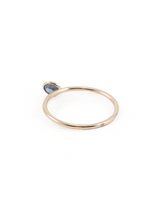 angled solitaire 5mm sapphire ring